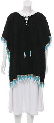 Blood & Honey Suede Fringe Poncho Black Blood & Honey Suede Fringe Poncho
