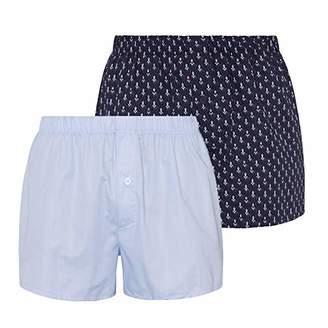 8b162c2d19697d Hanro Men's Fancy Woven Boxers 2pack Shorts,(Pack ...
