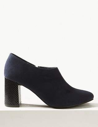 Marks and Spencer Block Heel Side Zip Shoe Boots with Insolia®