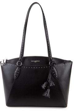 Karl Lagerfeld Paris Iris Studded East-West Leather Tote