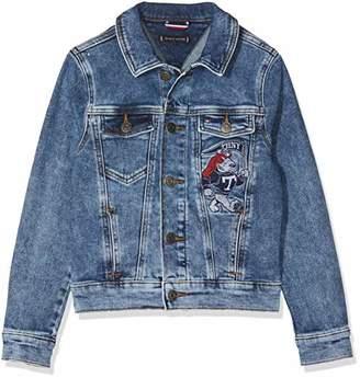 f0618e05 Tommy Hilfiger Boy's Boys Denim Jacket Easmbst Jacket, Blue (Eagle Salt Mid  Stretch 911