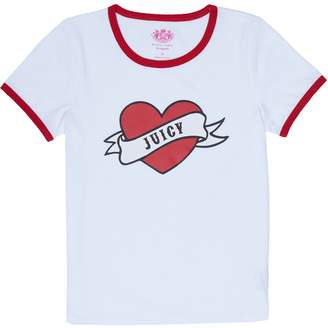 Juicy Couture Juicy Valentine Short Sleeve Ringer Tee for Girls