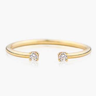 I Am Jewelry By Jamie Park 14k Gold & Diamond Cuff Ring