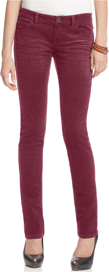 Celebrity Pink Jeans, Skinny Red, Corduroy