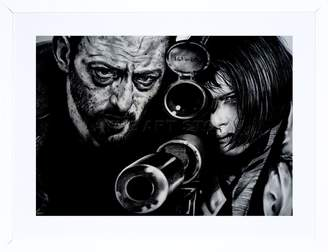 Leon Wee Blue Coo Jean Reno Natalie Portman Maguire Picture Framed Art Print