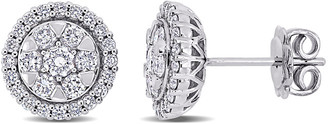 Diamond Select Cuts 14K 1.10 Ct. Tw. Diamond Halo Studs