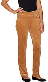Denim & Co. Petite Smooth Waist StretchCorduroy Pants