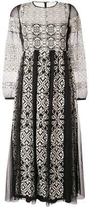 RED Valentino lace embroidered flared dress