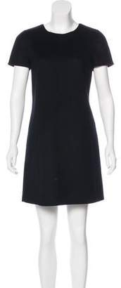 Paule Ka Short Sleeve Wool Dress