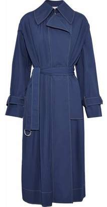 Cédric Charlier Pintucked Cotton-Blend Trench Coat