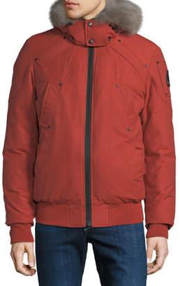 Moose Knuckles Men's Saint Lawrence Fur-Trim Bomber Coat