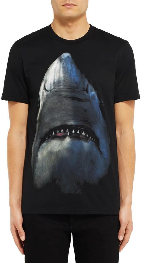 Givenchy Cuban-Fit Shark-Print Cotton-Jersey T-Shirt 3
