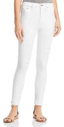 Rag & Bone High-Rise Skinny Jeans in White