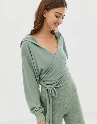 Free People Movement Hang Loose wrap knit top