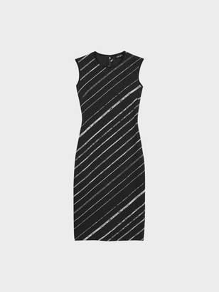 DKNY Bias Striped Jacquard Sheath Dress