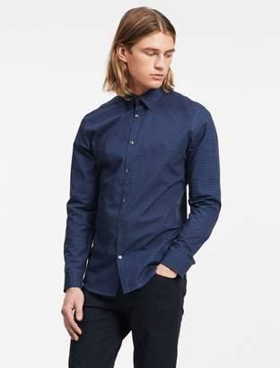 Calvin Klein slim fit block check non-iron shirt