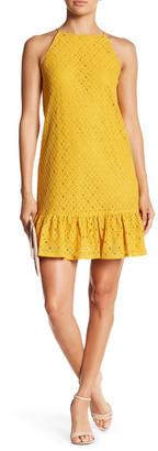 Soprano Ruffle Hem Lace Dress $58 thestylecure.com