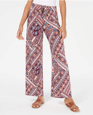 BeBop Juniors' Geo-Printed Soft Palazzo Pants