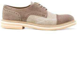 Eleventy contrast lace-up brogues