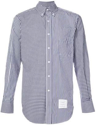 Thom Browne checked & striped button-down shirt