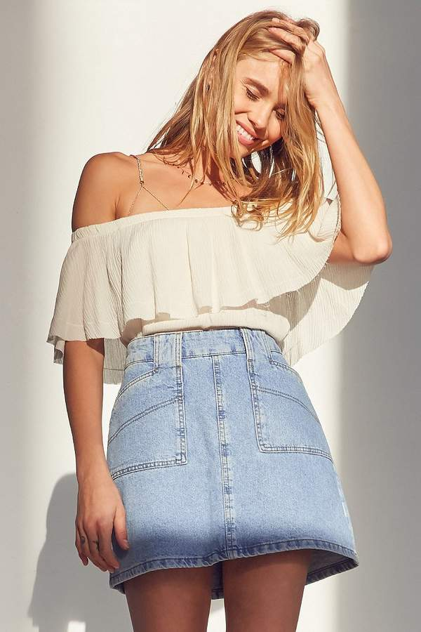 BDG Utility A-Line Denim Mini Skirt