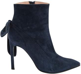 Carven Navy Suede Ankle boots