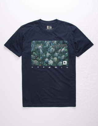 Hippy-Tree Hippytree Forestry Navy Mens T-Shirt