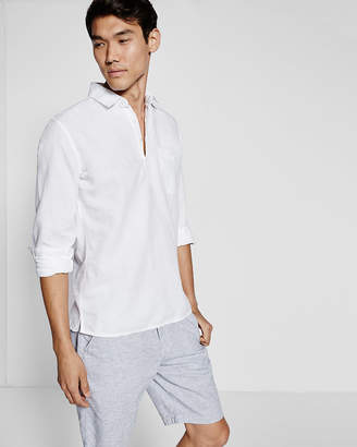 Express Slim Long Sleeve Henley Shirt