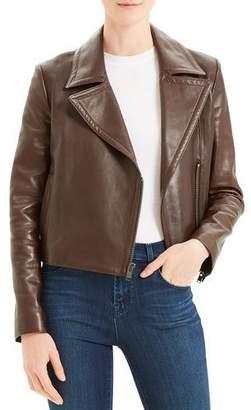 Theory Slim Napa Leather Moto Jacket