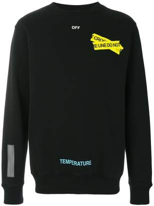 Off-White fire tape sweatshirt