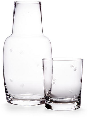 One Kings Lane Asst. of 2 Starburst Carafe & Glass - Clear