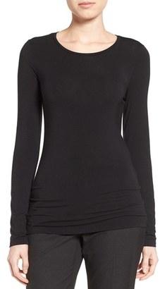 Women's Halogen Long Sleeve Modal Blend Tee $39 thestylecure.com