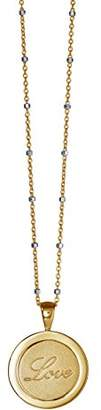 Babette Wasserman Women's 18ct Yellow Gold Plated Sterling Silver Twisting Love Forever Necklace of 46cm