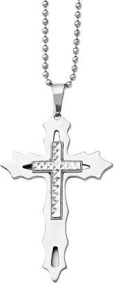 Silver Cross FINE JEWELRY Mens Stainless Steel & Sterling Pendant