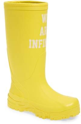 Undercover We Are Infinite Rubber Rain Boot