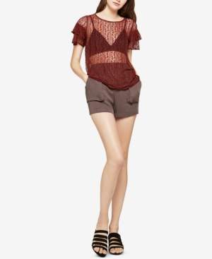 BCBGeneration Lace Vented Tiered-Sleeve Top