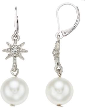 Crystal Pearl Simply Vera Vera Wang Simulated Crystal & Pearl Drop Earrings