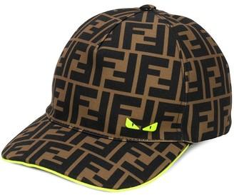 Fendi monogram pattern baseball cap