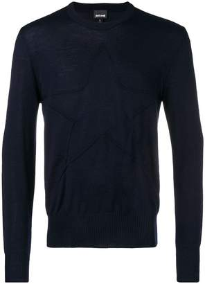 Just Cavalli long-sleeve fitted sweater
