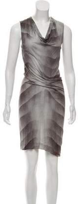 Helmut Lang Printed Draped Dress