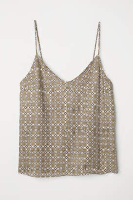 H&M V-neck Camisole Top - Green