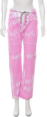Aries Mid-Rise Lilly Pink Straight-Leg Jeans w/ Tags