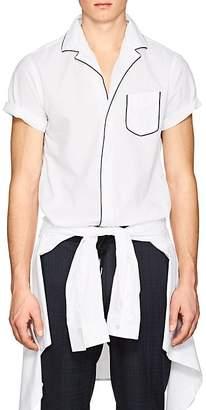 Officine Generale Men's Piped Seersucker Short-Sleeve Shirt