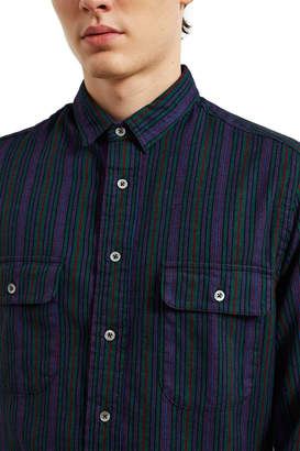 Opening Ceremony Gitman Brothers For Multi-Stripe Flannel Overshirt