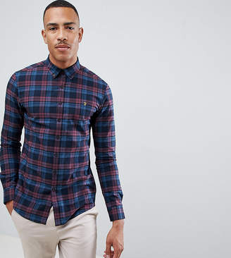 Farah Radley slim fit check shirt in red