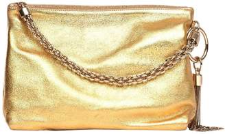 At Giglio Jimmy Choo Crossbody Bags Clutch Bag In Laminated Leather With Metallic Charm And Tubular Chain Handle