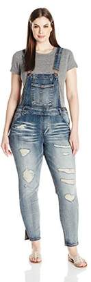 dollhouse Women's Plus Size Destructed Skinny Overall $48.99 thestylecure.com