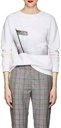 "Calvin Klein Women's ""American Flag"" Cotton Terry Sweatshirt"
