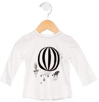 Little Marc Jacobs Girls' Balloon Printed Top w/ Tags