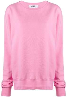 MSGM oversized printed logo sweatshirt